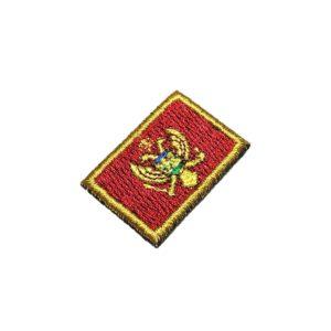 Bandeira País Montenegro Patch Bordado Para Uniforme Camisa