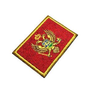 Bandeira País Montenegro Patch Bordado Para Camisa Uniforme
