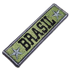 Brasil Militar Patch Bordado Com Fecho Contato Gancho Atrás