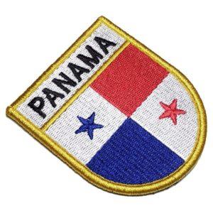 Bandeira País Panamá Patch Bordado Fecho Contato Gancho
