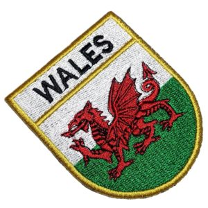 Bandeira País de Gales Patch Bordado Para Camisa Uniforme