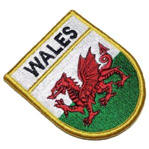 Bandeira País De Gales Patch Bordado Fecho Contato Gancho
