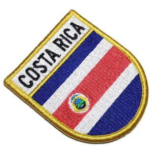 Bandeira País Costa Rica Patch Bordado Fecho Contato Gancho