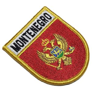 Bandeira País Montenegro Patch Bordado Fecho Contato Gancho