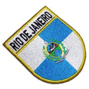 Bandeira Estado Rio de Janeiro RJ Brasil Patch Bordado