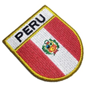 Bandeira País Peru Patch Bordado Para Camisa Uniforme Boné