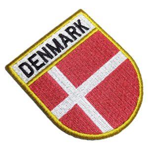 Bandeira País Dinamarca Patch Bordado Para Camisa Uniforme