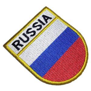 Bandeira País Rússia Patch Bordado Para Roupas Uniforme Boné