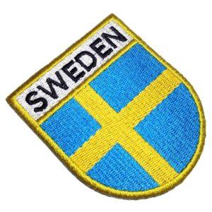 Bandeira País Suécia Patch Bordado Para Camisa Uniforme Boné