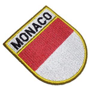 Bandeira País Mônaco Patch Bordado Para Roupas Uniforme Boné