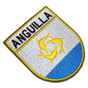 Bandeira País Anguilla Patch Bordado Para Camisa Uniforme