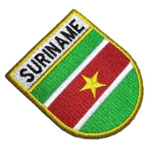 Bandeira País Suriname Patch Bordado Para Camisa Uniforme