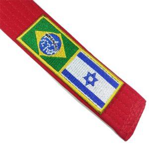 Bandeira Brasil Israel Patch Bordado Para Uniforme Camisa