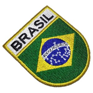 Bandeira País Brasil Patch Bordado Para Camisa Uniforme Boné