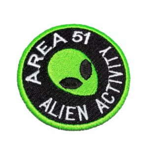 Área 51 Alien Activity ET UFO OVNI Patch Bordado Para Camisa