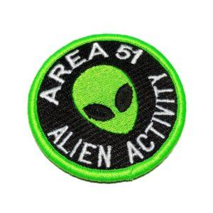 Área 51 Alien Activity UFO OVNI Patch Bordado Fecho Contato