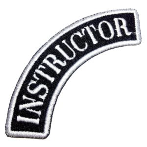Instructor Patch Bordado Para Uniforme Colete Camisa Jaqueta