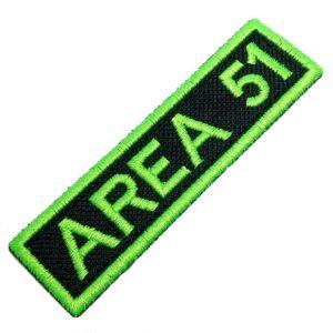 Área 51 Alien ET UFO OVNI Patch Bordado Para Uniforme Camisa