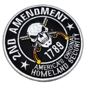 2ª Emenda EUA Patch Bordado Para Uniforme Colete Camisa