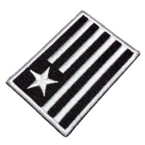 Trj086 Escudo Bandeira Botafogo Rj Tag Patch Bordado 8×5,5cm