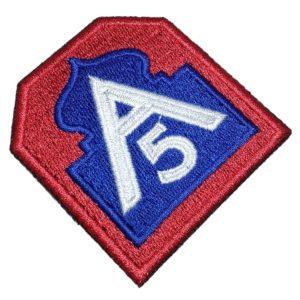 A5 Feb 5º Exército Aliado 2ª Guerra Mundial Patch Bordado
