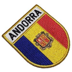 Bandeira País Andorra Patch Bordado Para Uniforme Boné Calça