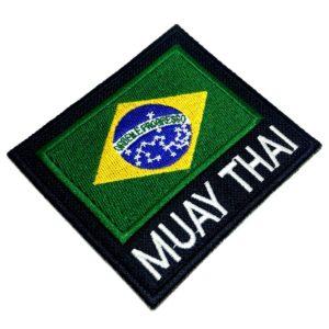 Muay Thai Bandeira do Brasil Patch Bordado Para Kimono Calça