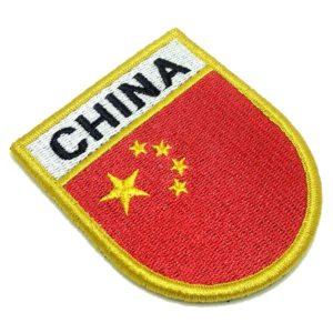 Bandeira País China Patch Bordado Fecho Contato Gancho