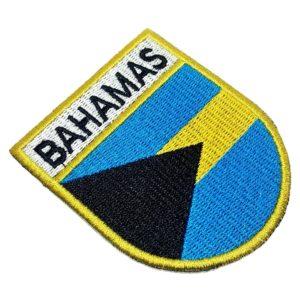 Bandeira País Bahamas Patch Bordado Para Uniforme Boné Calça