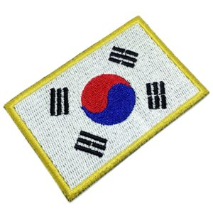Bandeira Coreia do Sul Patch Bordado Para Uniforme Camisa