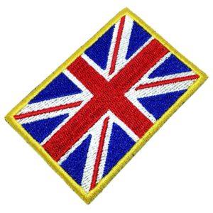 Bandeira Reino Unido Patch Bordado Para Uniforme Camisa Boné