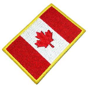Bandeira Canadá Patch Bordado Para Uniforme Camisa Kimono