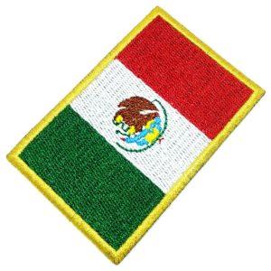 Bandeira México Patch Bordado Para Uniforme Camisa Kimono