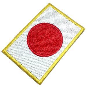 Bandeira Japão Patch Bordado Para Uniforme Camisa Kimono