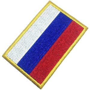 Bandeira Rússia Patch Bordado Para Uniforme Camisa Kimono