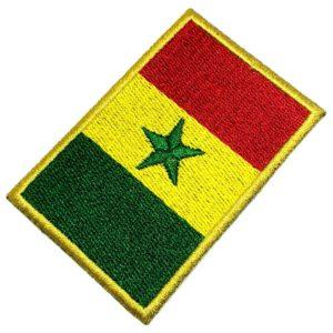 Bandeira Senegal Patch Bordado Para Uniforme Camisa Kimono