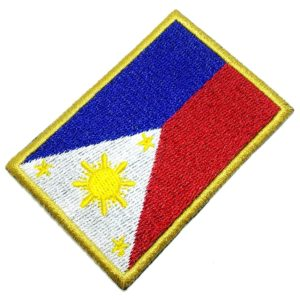 Bandeira Filipinas Patch Bordado Para Uniforme Camisa Kimono