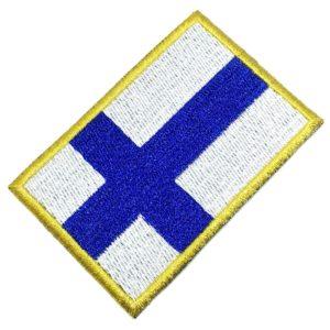 Bandeira Finlândia Patch Bordado Para Uniforme Camisa Kimono