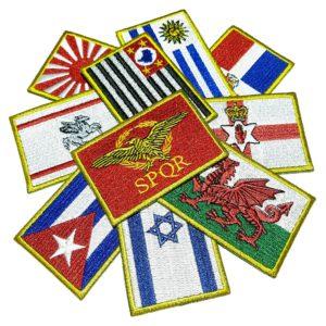Bandeira Todos os Países e Estados Brasileiros Patch Bordado
