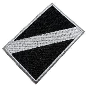 Bandeira Mergulho Patch Bordado Para Uniforme Camisa Mochila