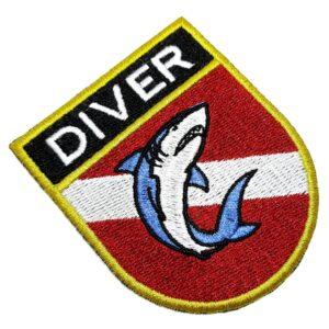 Bandeira Mergulho Patch Bordado Para Roupa Mergulhador Boné