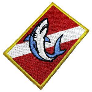 Bandeira Mergulho Patch Bordado Para Roupa Boné Mergulhador