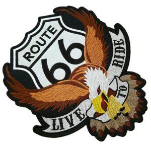 EUA Rota 66 Águia Patch Bordado Para Colete Moto Clube