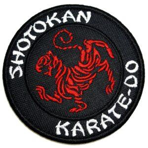 Karate Shotokan Patch Bordado Fecho de Contato Para Uniforme