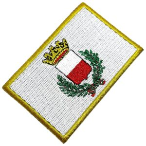 Bandeira Cidade de Lucca Itália Patch Bordada Termo Adesivo