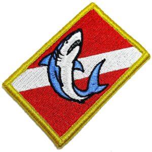 Bandeira Mergulho Patch Bordada Fecho Contato Para Roupa