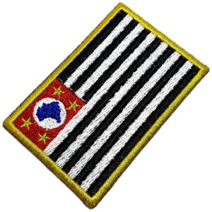Bandeira Estado São Paulo Brasil Patch Bordada Termo Adesivo