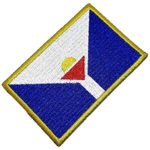 Bandeira São Martinho França Patch Bordada Termo Adesivo