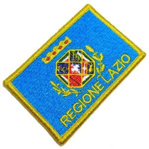 Bandeira Regíão de Lácio Itália Patch Bordada Fecho Contato