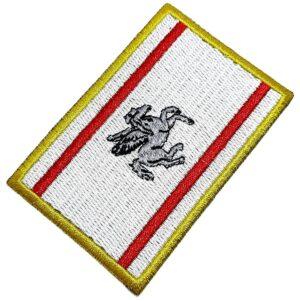 Bandeira Região Toscana Itália Patch Bordada Termo Adesivo